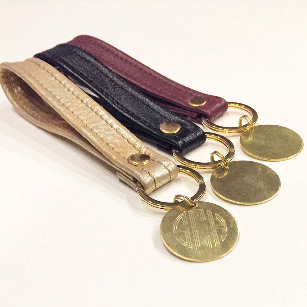 Engraved Monogrammed Key Chain