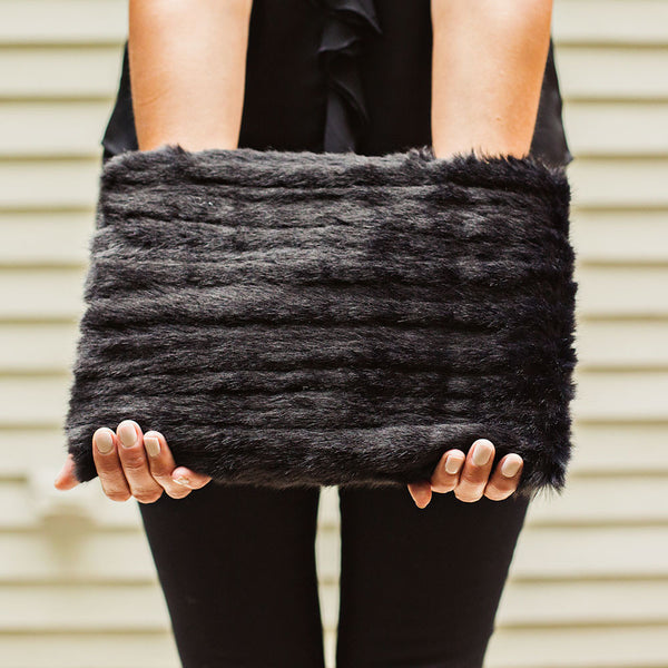big fur clutch for winter