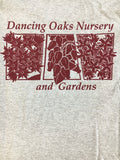 Apparel ~ T-Shirt, Short Sleeves, Unisex, Heather Grey Updated Plant Tiles ~ Dancing Oaks Nursery and Gardens ~ Retail Nursery ~ Mail Order Nursery