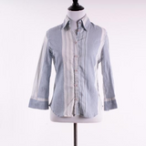 MNG striped button up top