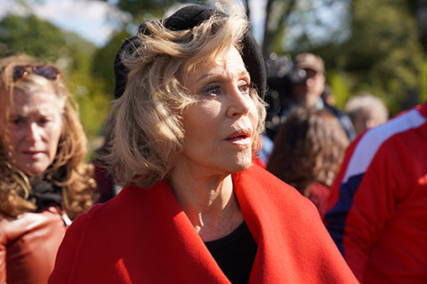 Jane Fonda Red Coat