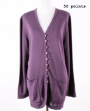 Brenda French purple cardigan sweater