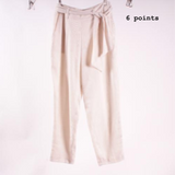 H&M cream trousers