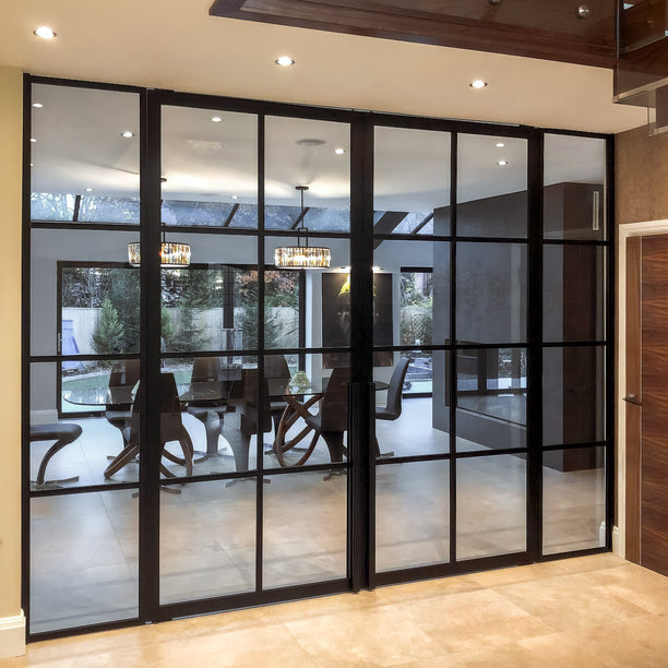Portapivot 6530 + 3030 by Cheshire bespoke glass & doors (UK)