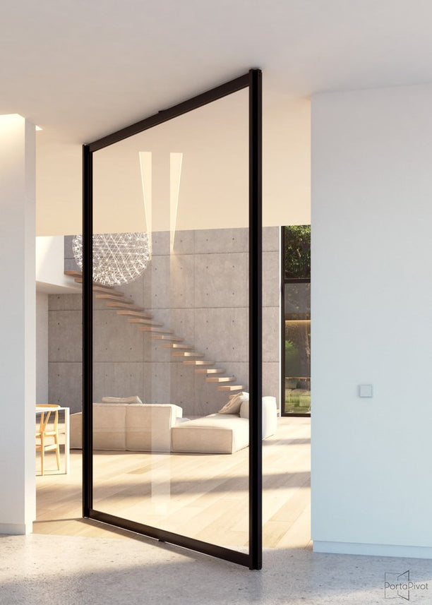 Portapivot 6530 XL glass and aluminium pivot door