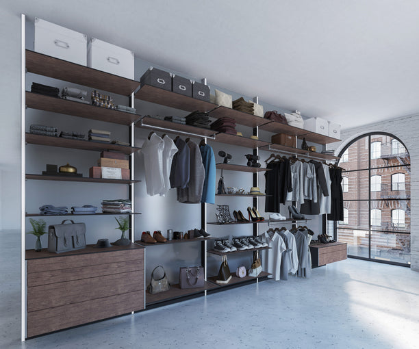 Walk-in closet system Dress Wall
