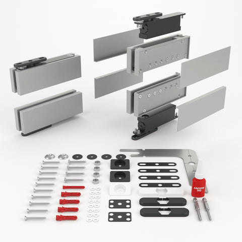 Portapivot GLASS NL silver kit overview