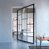 Portapivot 6530 XL glass and aluminium pivot door with central axis