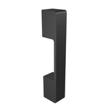 Black anodized aluminium door handle DG01 vertical
