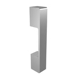 Silver anodized aluminium door handle DG01 vertical