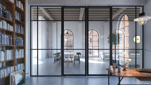 Portapivot 3030 fixed glass partition profile