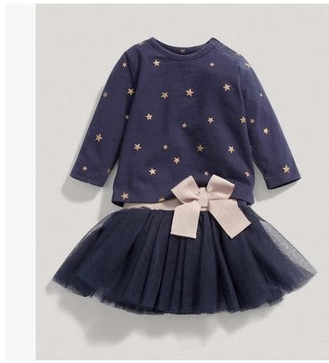 Blue Tutu Star Set For Toddlers & Kids