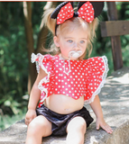 Red Baby Swimming Outfit