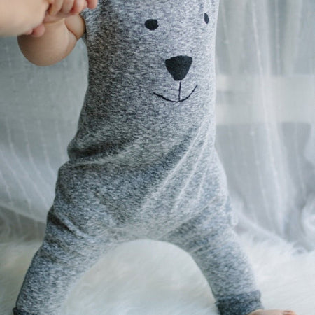 Gray Deer One Piece For Baby Boho Baby
