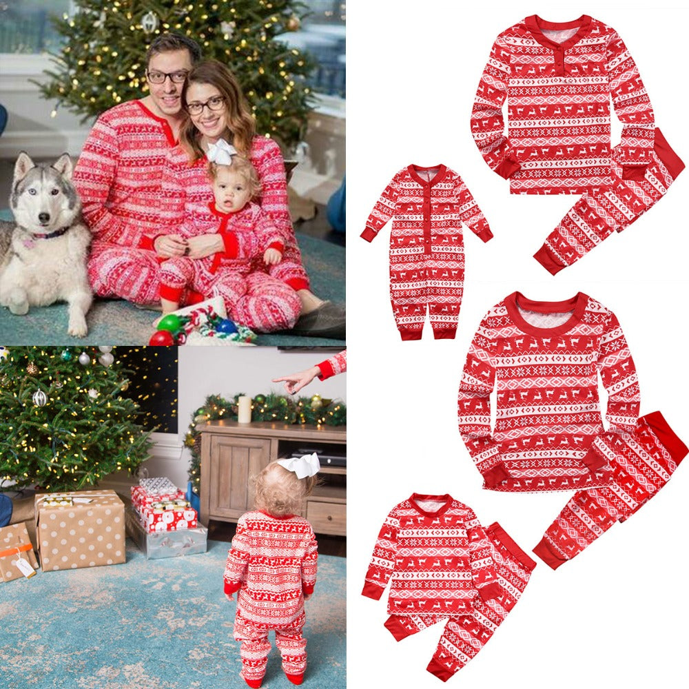 Ugly Christmas Pjs Family Matching Outfits