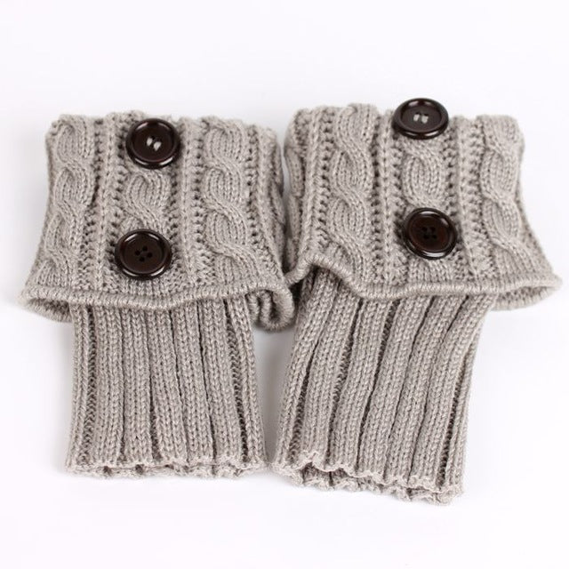 Knit Boot Toppers Boho Baby