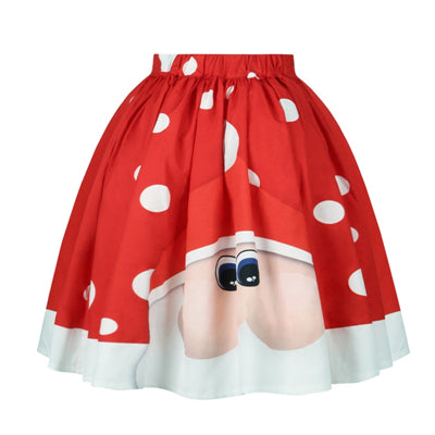 Foxy! Christmas Polka Dot Printed Skirt