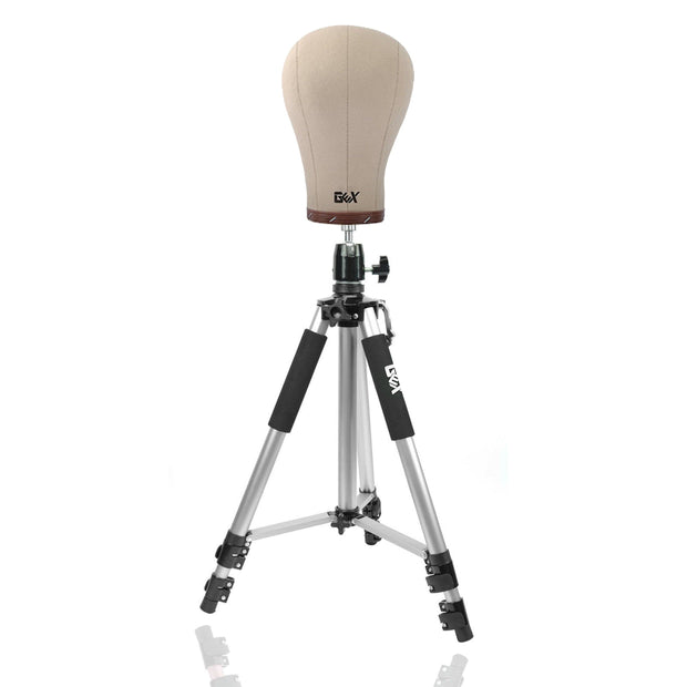 GEX Cork Canvas Block Head and Mannequin Head Tripod Combo - GexWorldwide