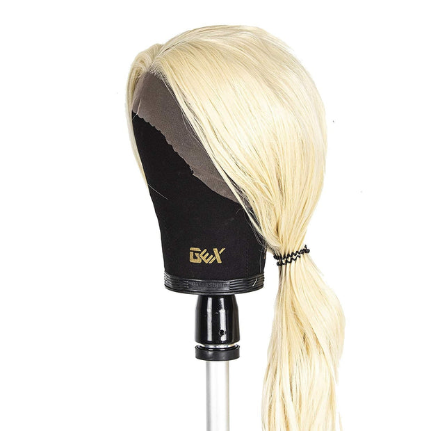 "GEX 20""-24"" Black Color Cork Canvas Block Head Wig Display With Mount Hole Beauty Supplies- GexWorldwide"