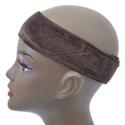 GEX Flexible Velvet Wig Grip Scarf Head Band Adjustable Fastern Brown - GexWorldwide