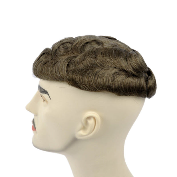 GEX Mens Toupee Hairpiece Skin Human Hair Systems 17# - GexWorldwide