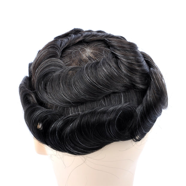 GEX Mens Toupee Hairpiece Swiss Lace Hair Systems 1B10# - GexWorldwide