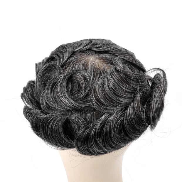 GEX Mens Toupee Hairpiece Swiss Lace Hair Systems 1B30# - GexWorldwide