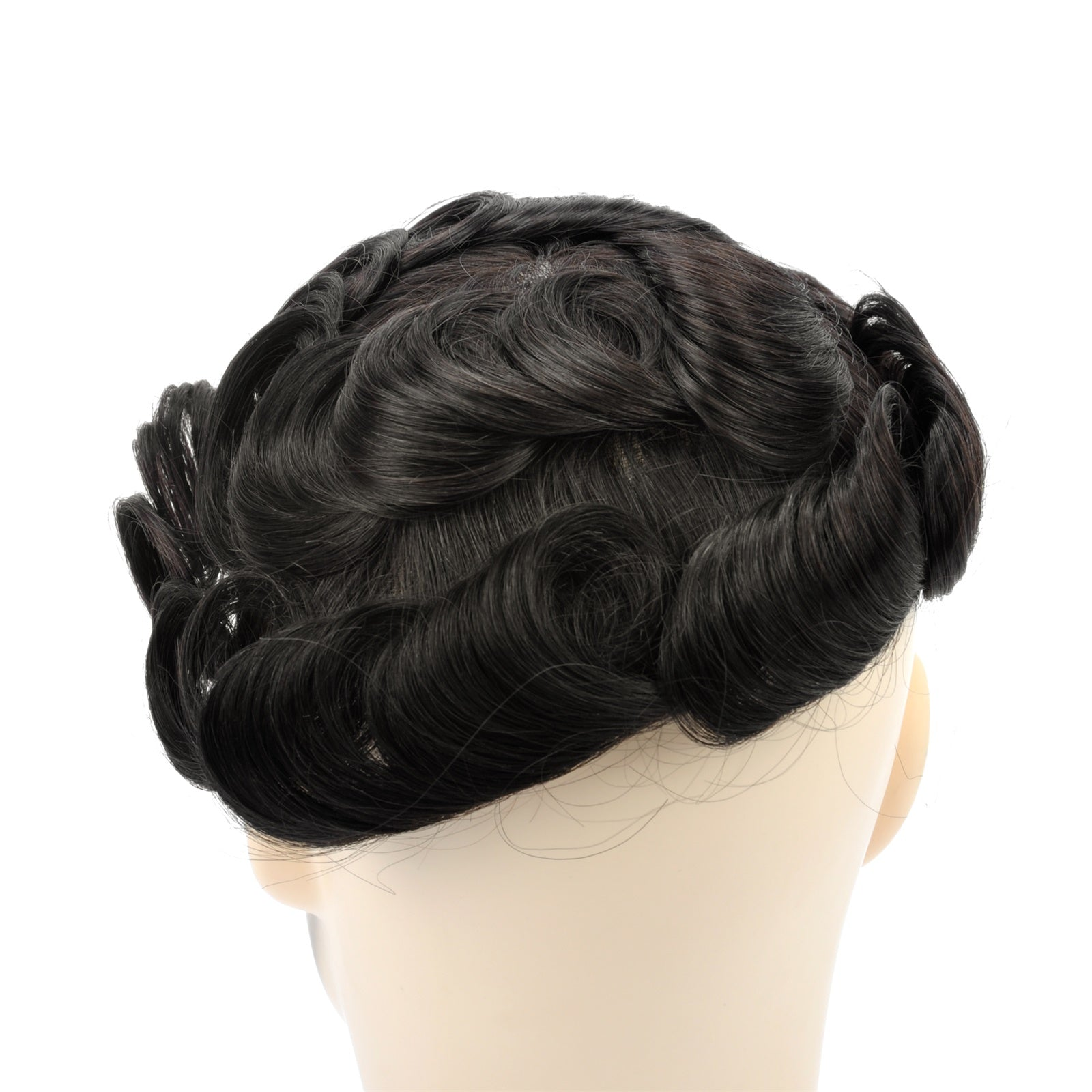Gex Mens Toupee Hairpiece French Lace Hair Systems 1b