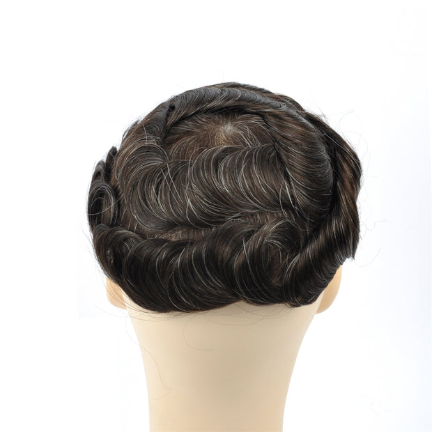 GEX Mens Toupee Hairpiece Swiss Lace Hair Systems 220# - GexWorldwide