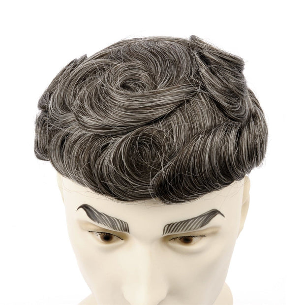 GEX Mens Toupee Hairpiece Skin Human Hair Systems 340# - GexWorldwide