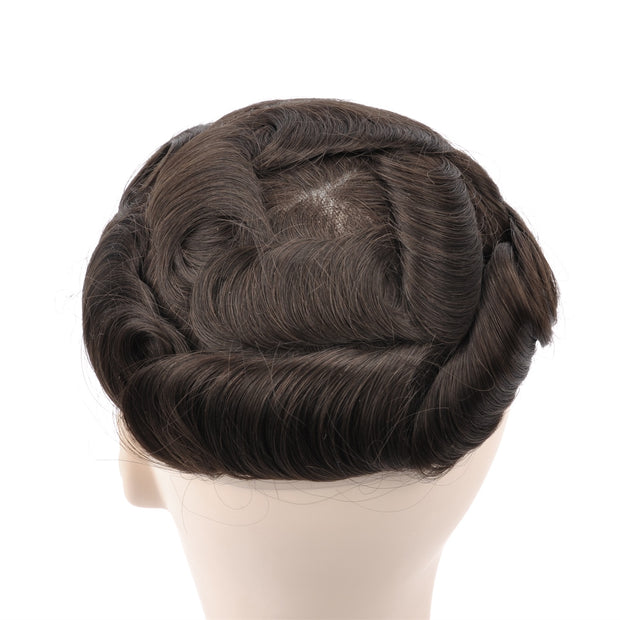 GEX Mens Toupee Hairpiece Swiss Lace Hair Systems 3# - GexWorldwide