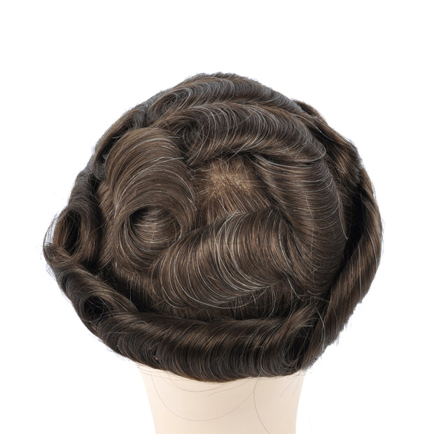 GEX Mens Toupee Hairpiece Swiss Lace Hair Systems 410# - GexWorldwide
