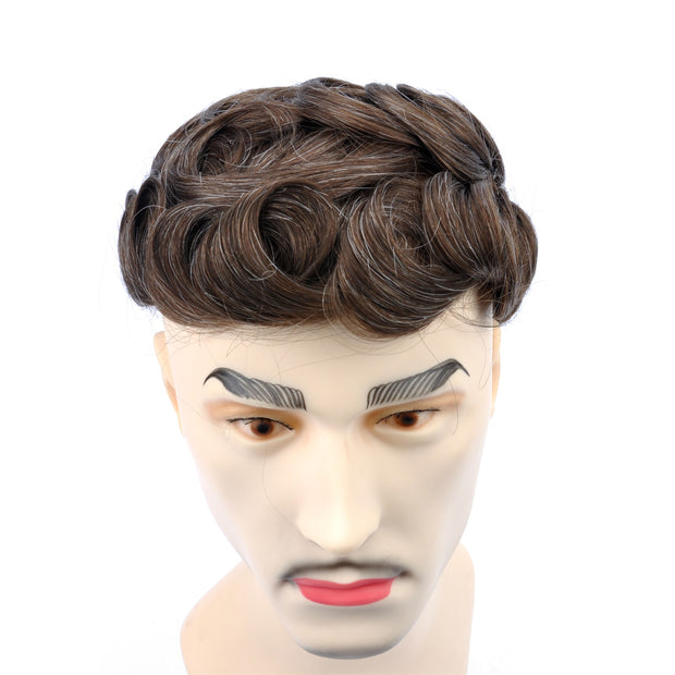 GEX Mens Toupee Hairpiece Swiss Lace Hair Systems 420# - GexWorldwide