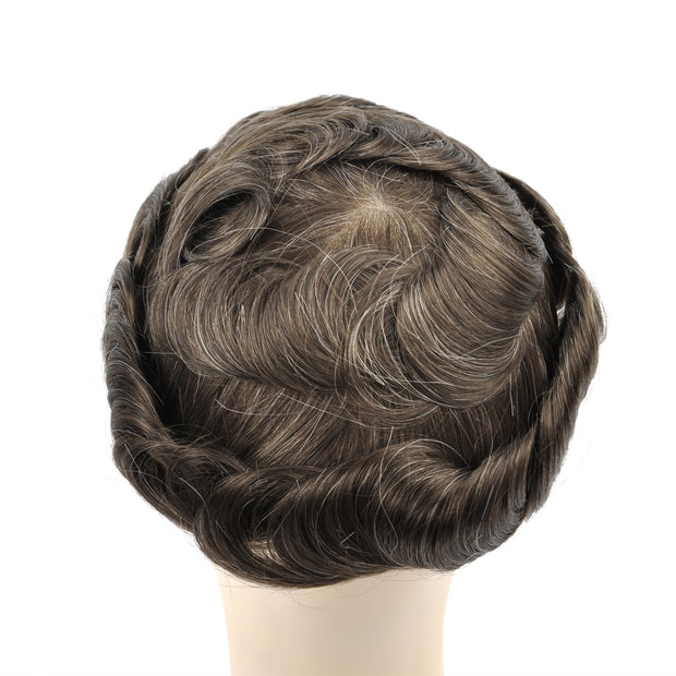 GEX Mens Toupee Hairpiece Swiss Lace Hair Systems 520# - GexWorldwide