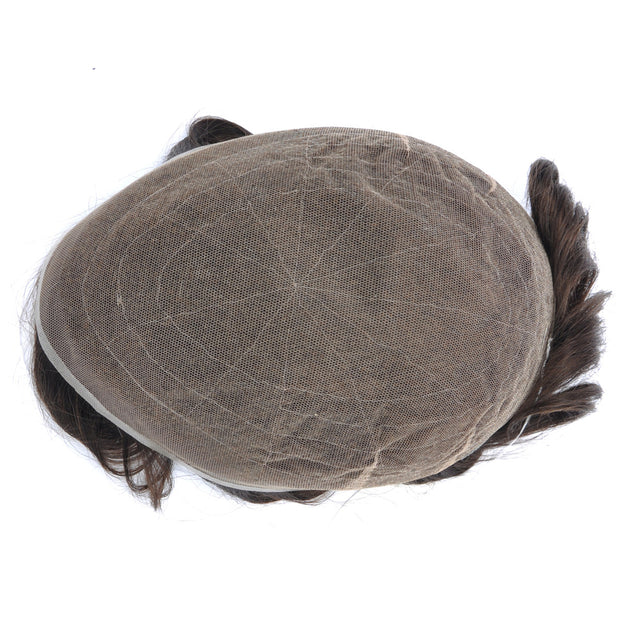 GEX Mens Toupee Hairpiece Swiss Lace Hair Systems 20# - GexWorldwide