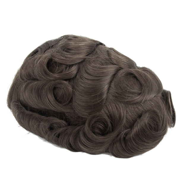 GEX Mens Toupee Hairpiece Swiss Lace Hair Systems ASH7# - GexWorldwide