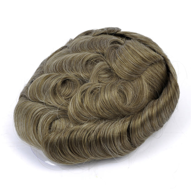 GEX Mens Toupee Hairpiece Mirage Human Hair Systems 1720# - GexWorldwide