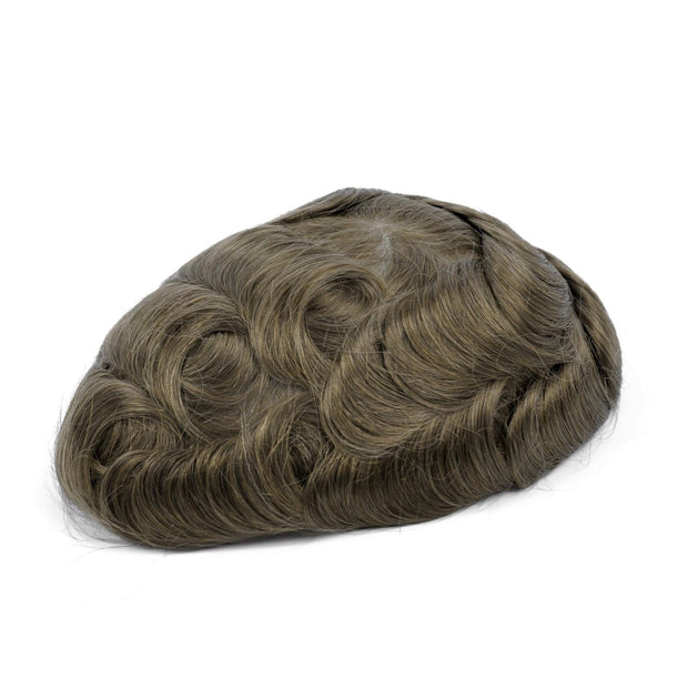 GEX Mens Toupee Hairpiece Mirage Human Hair Systems 17# - GexWorldwide