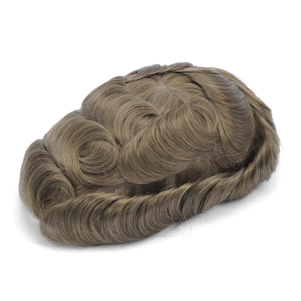 GEX Mens Toupee Hairpiece Swiss Lace Hair Systems 18# - GexWorldwide