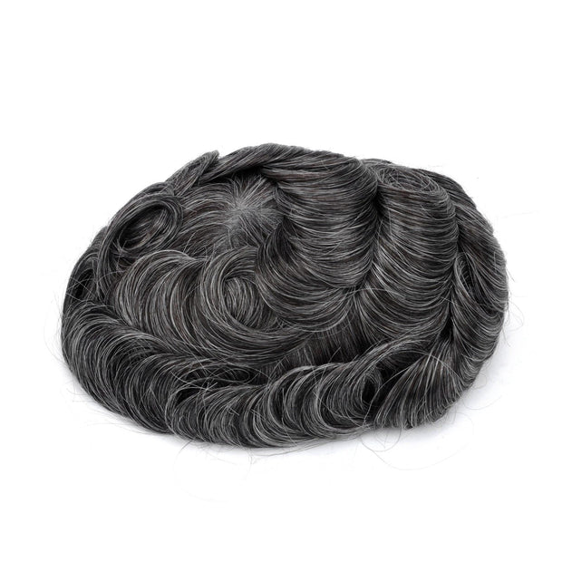 GEX Mens Toupee Hairpiece Skin Human Hair Systems 1B30# - GexWorldwide