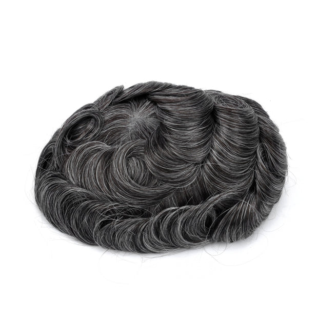 GEX Mens Toupee Hairpiece Mirage Human Hair Systems 1B30# - GexWorldwide