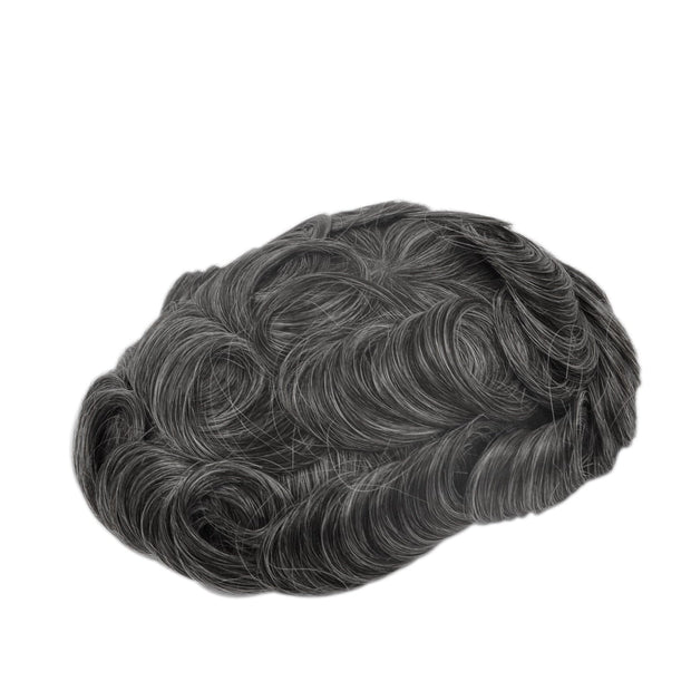 GEX Mens Toupee Hairpiece Skin Human Hair Systems 1B40# - GexWorldwide