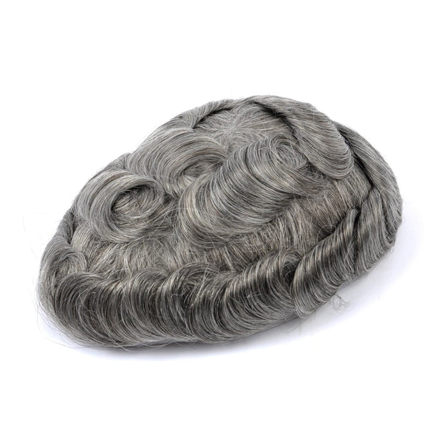 GEX Mens Toupee Hairpiece Mirage Human Hair Systems 1B65# - GexWorldwide