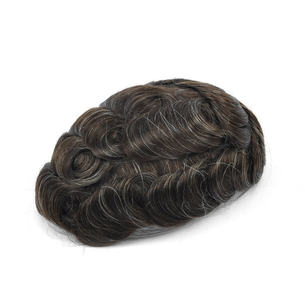 GEX Mens Toupee Hairpiece Skin Human Hair Systems 210# - GexWorldwide