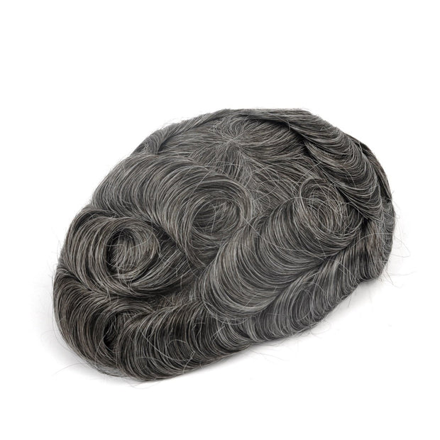 GEX Mens Toupee Hairpiece Skin Human Hair Systems 240# - GexWorldwide