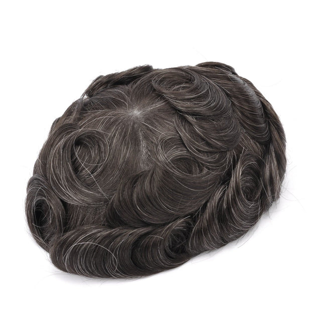 GEX Mens Toupee Hairpiece Skin Human Hair Systems 310# - GexWorldwide