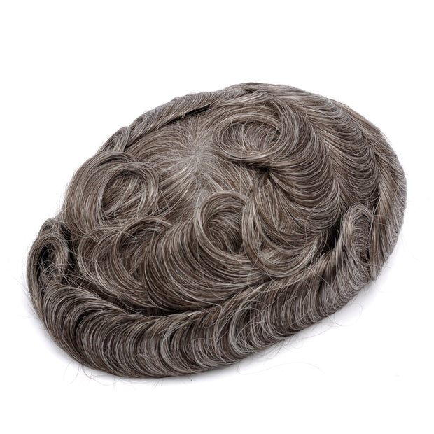 GEX Mens Toupee Hairpiece Mirage Human Hair Systems 440# - GexWorldwide