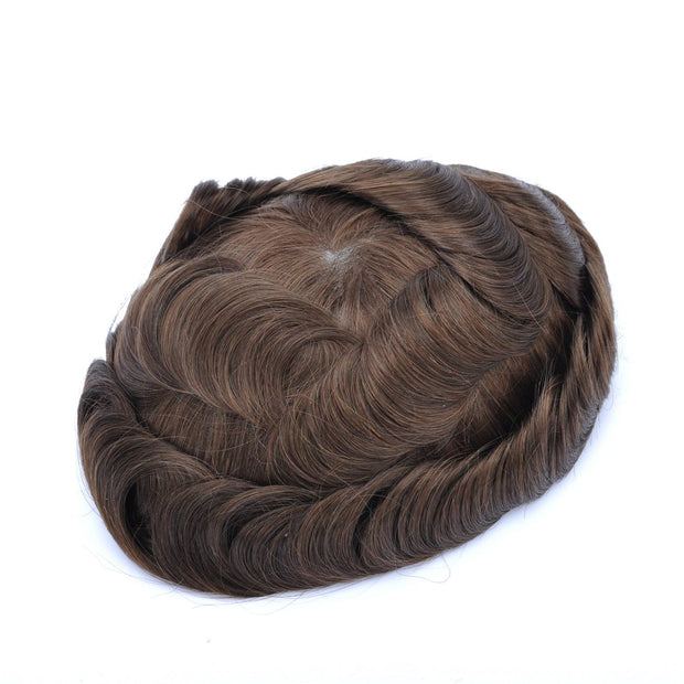 GEX Mens Toupee Hairpiece Mirage Human Hair Systems 4# - GexWorldwide