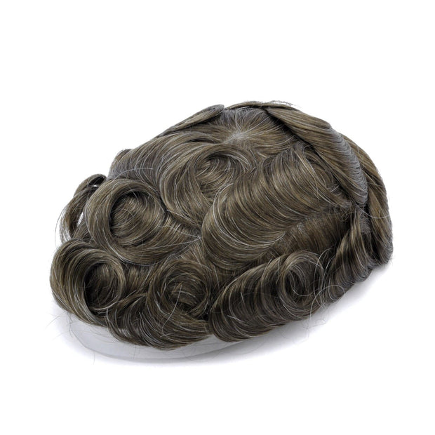 GEX Mens Toupee Hairpiece Skin Human Hair Systems 510# - GexWorldwide