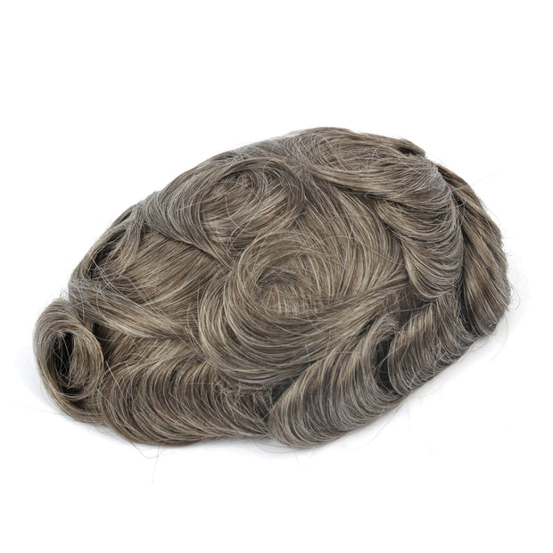 GEX Mens Toupee Hairpiece Skin Human Hair Systems 540# - GexWorldwide